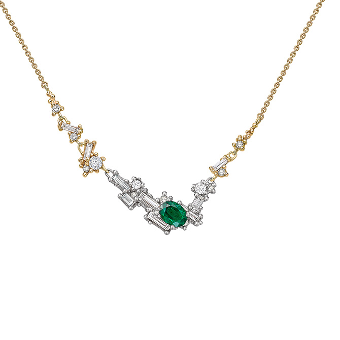 Ruth Tomlinson emerald necklace