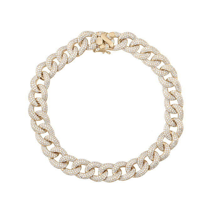 Serena Williams Cuban link bracelet