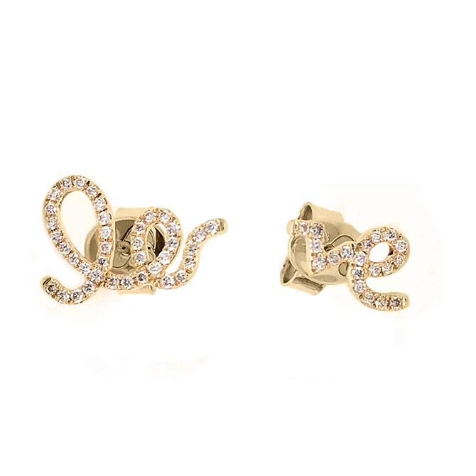 Serena Williams Love stud earrings
