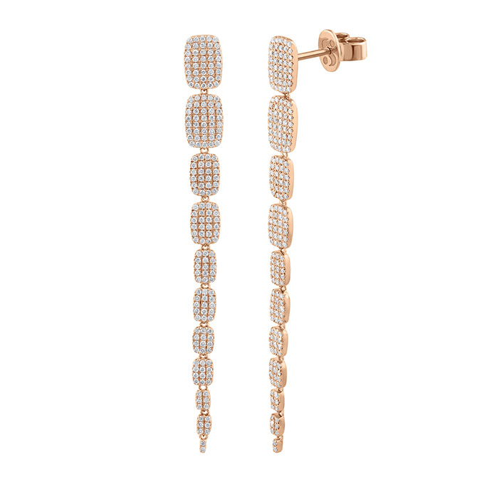 Serena Williams cascading earrings