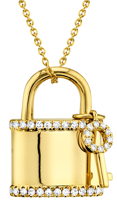 Shy Creation love lock necklace