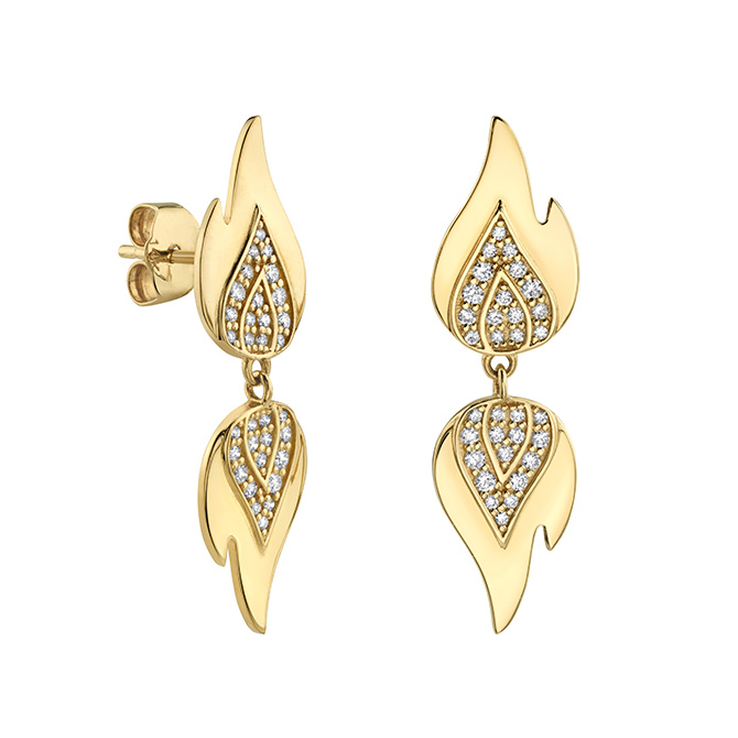 Sydney Evan Flame drop earrings