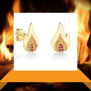 Sydney Evan flame earrings