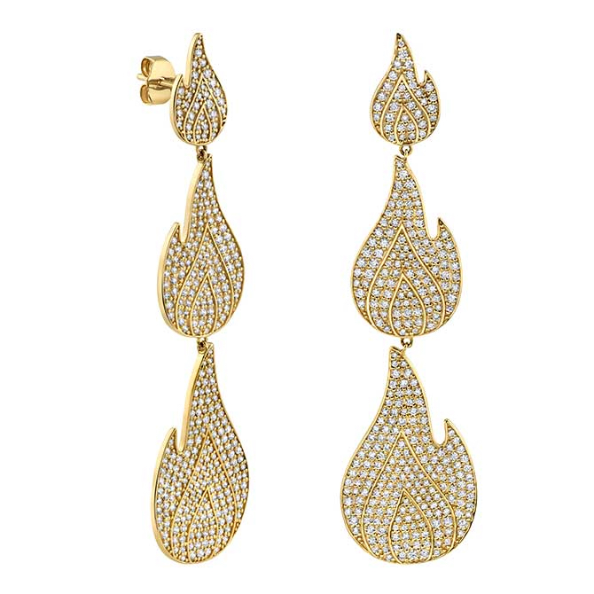Sydney Evan large Flame earrings