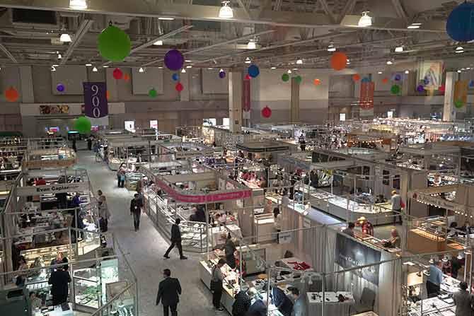 AGTA Tucson GemFair show floor