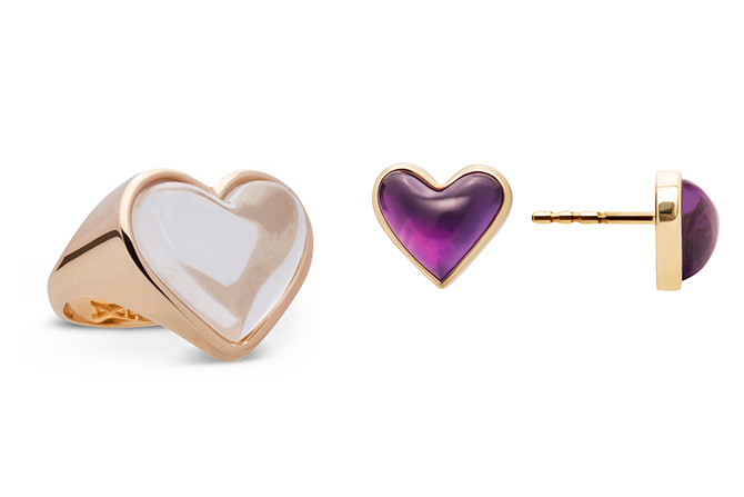 Alina Abegg heart ring and earrings