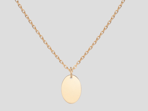 AUrate oval pendant