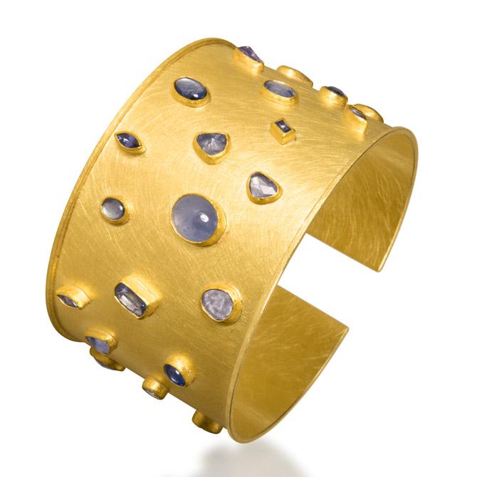 Petra Class sapphire cuff bracelet