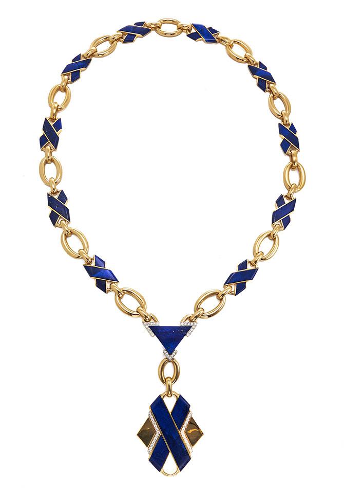 David Webb classic blue necklace