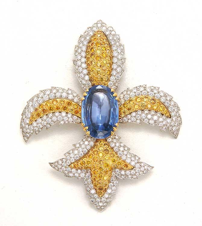 David Webb sapphire brooch