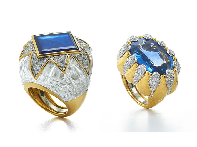David Webb sapphire cocktail rings