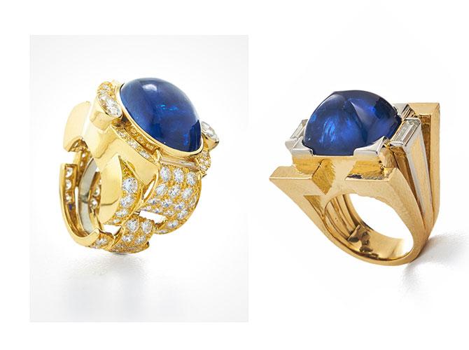 David Webb sugarloaf sapphire rings