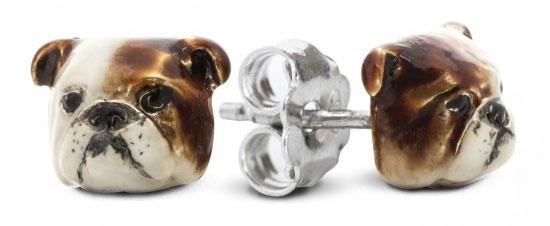 Dog Fever bulldog earrings
