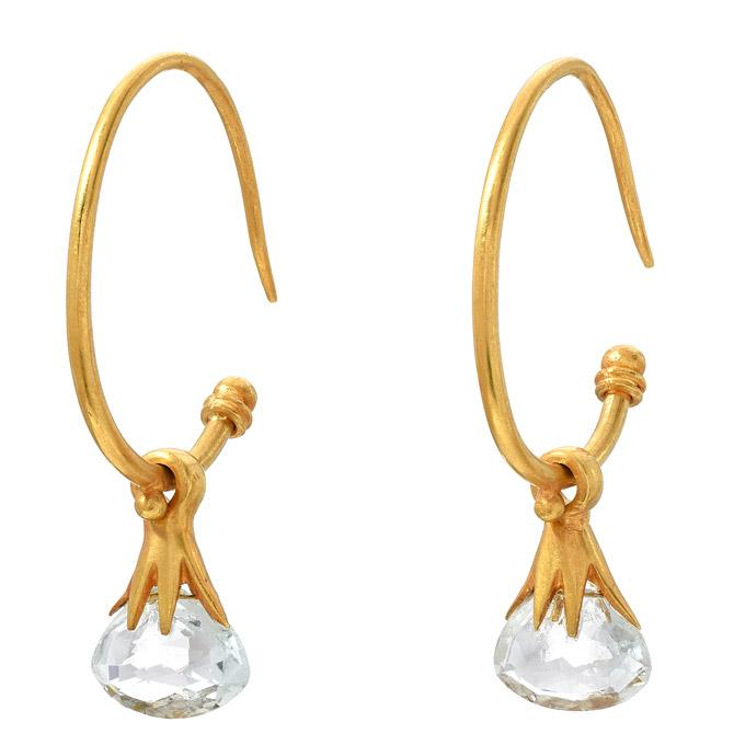 JS Noor aquamarine briolette earrings