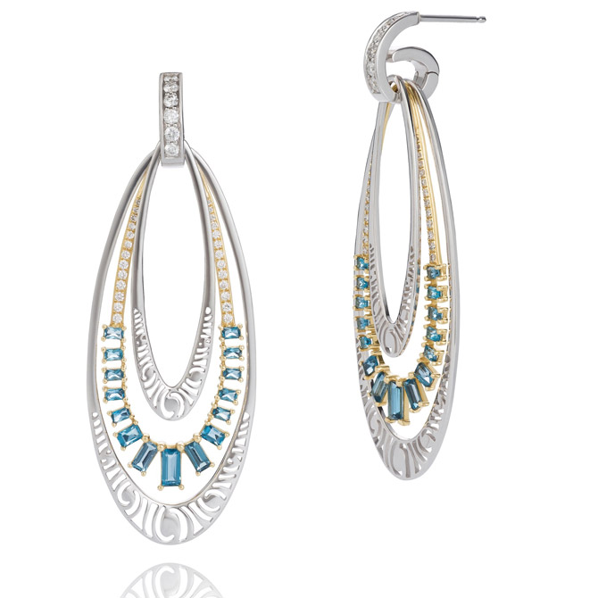 Martha Seely Lyra collection earrings