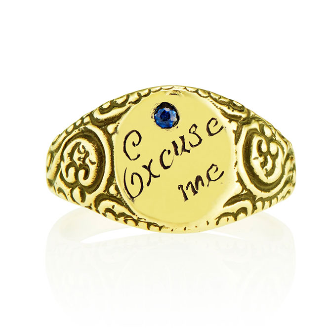 Heavenly Vices signet ring