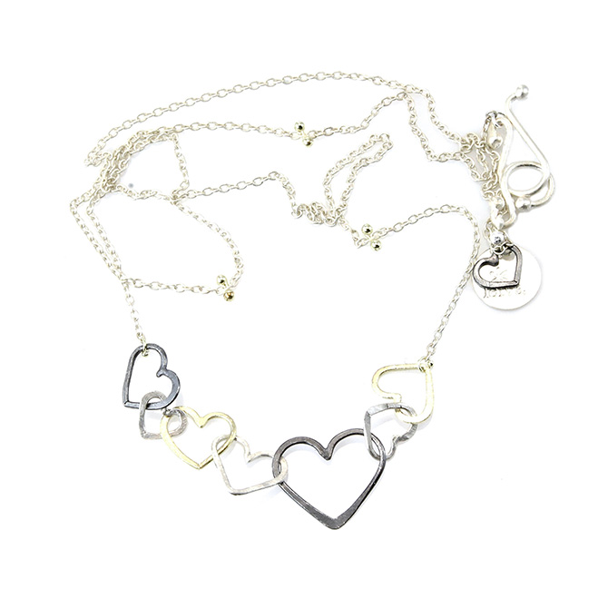 Leiva Tumbling Hearts necklace