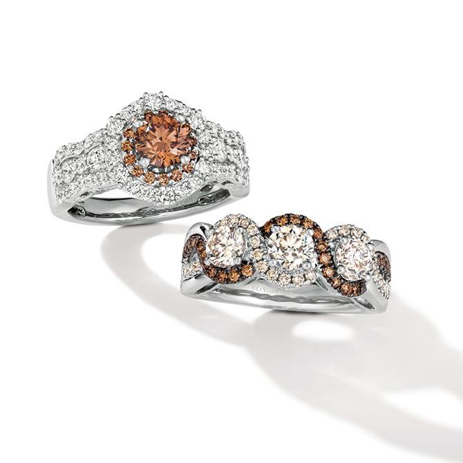 Le Vian chocolate diamond rings