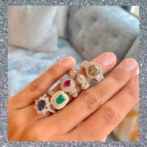 Le Vian platinum rings