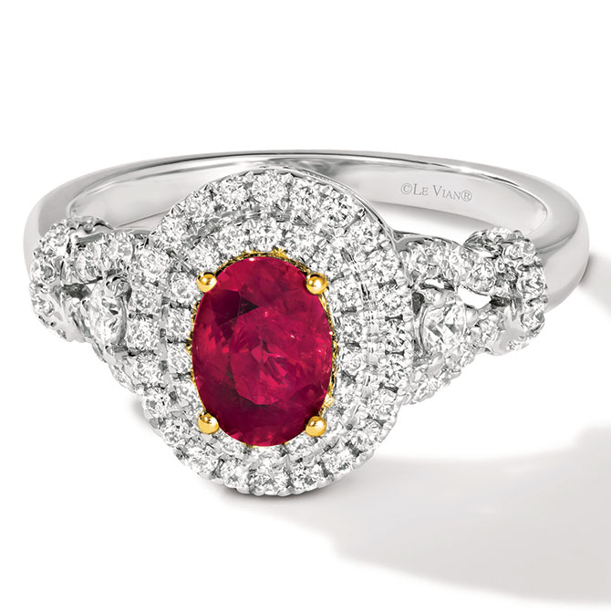 Le Vian ruby and platinum ring