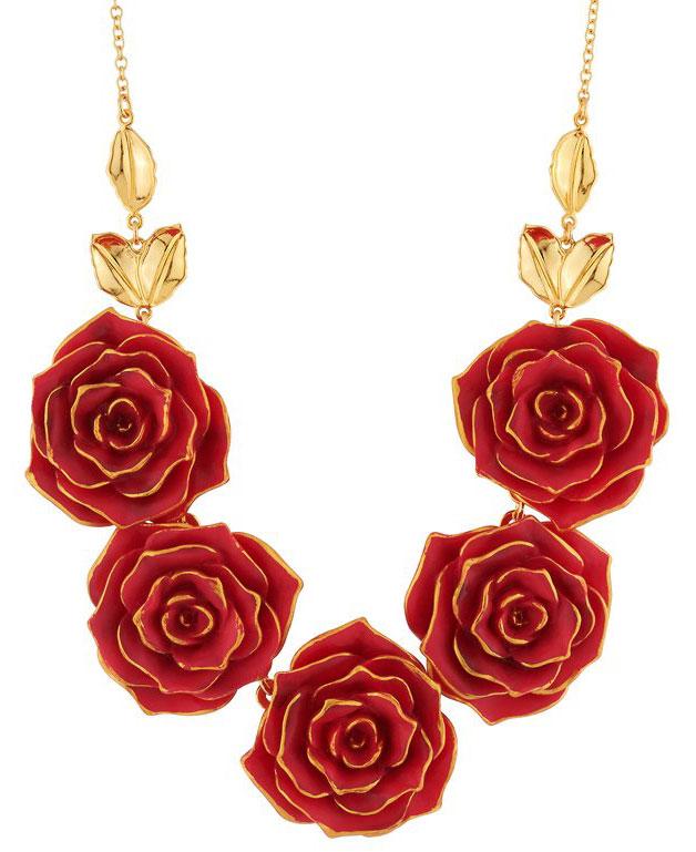 Les Nereides rose necklace