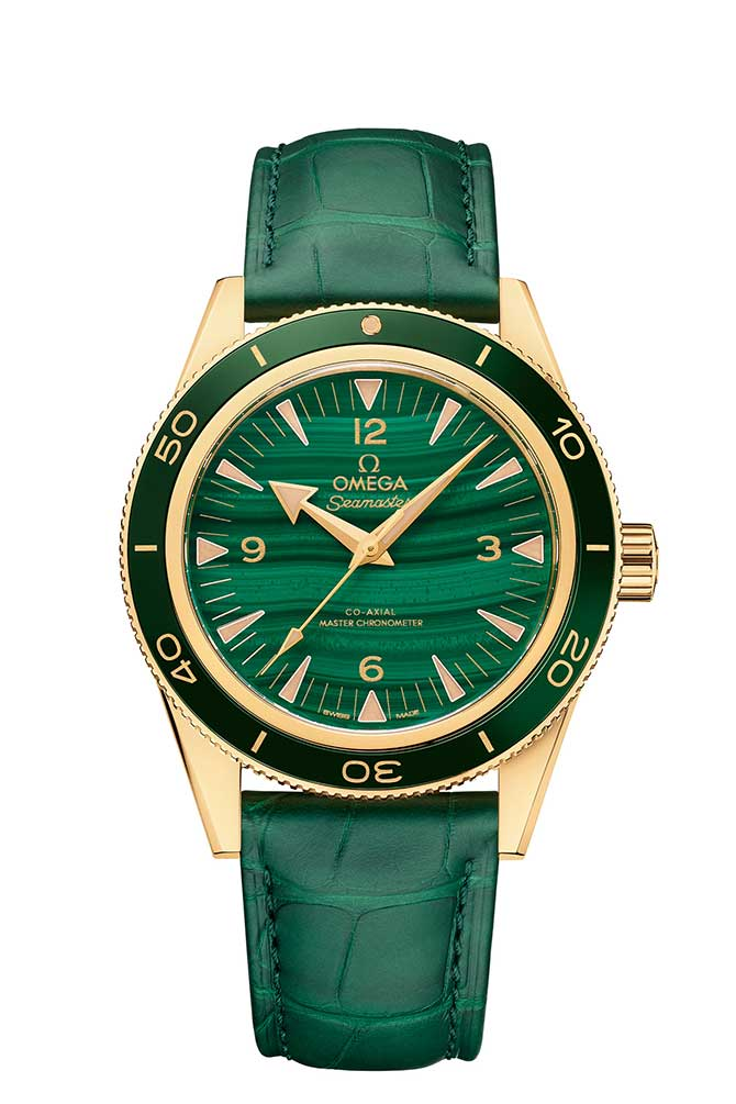 Omega malachite watch