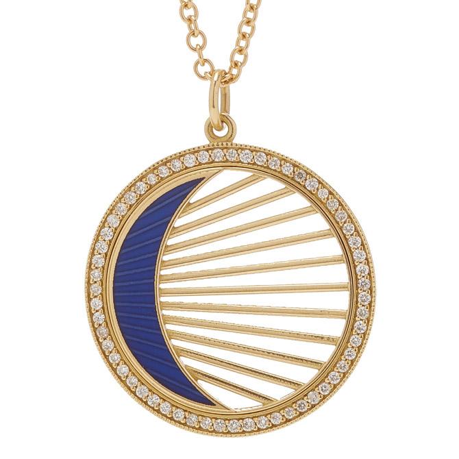 Andrea Fohrman crescent enamel pendant