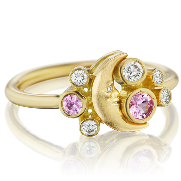 Anthony Lent crescent cluster ring