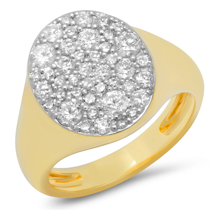 Eriness diamond signet ring