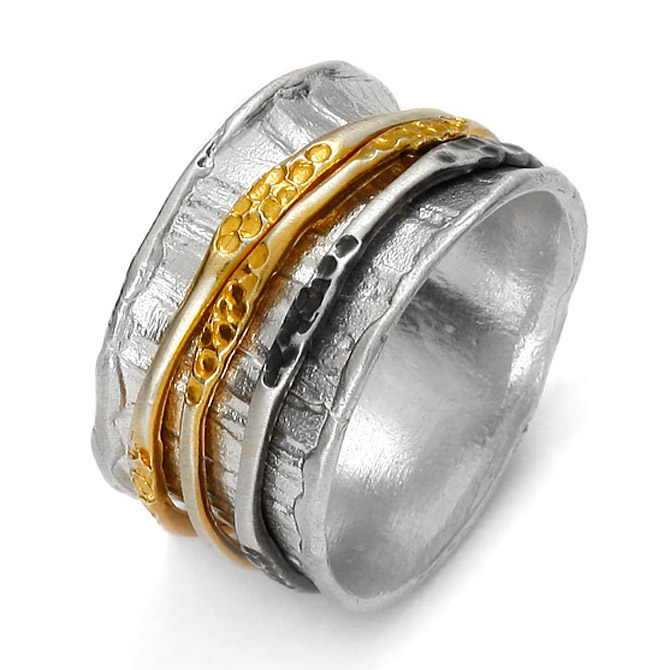 Eva Stone two-tone ring