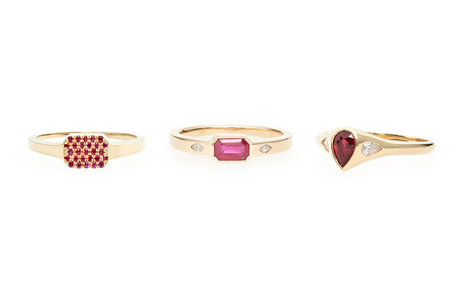 Talon ruby rings