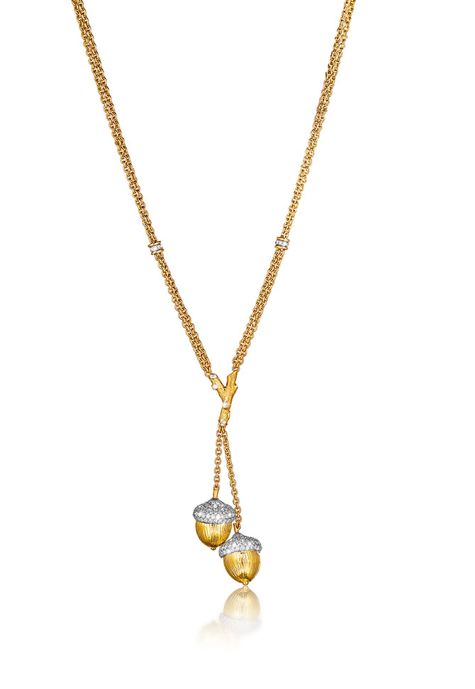 Verdura Acorn Lariat necklace