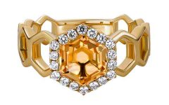 Artistry Ltd. yellow gold citrine ring