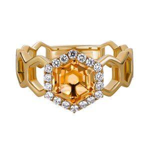 Artistry Ltd. yellow gold citrine ring