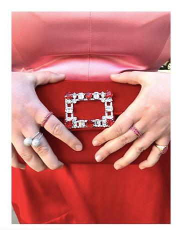 Beanie Feldstein hands