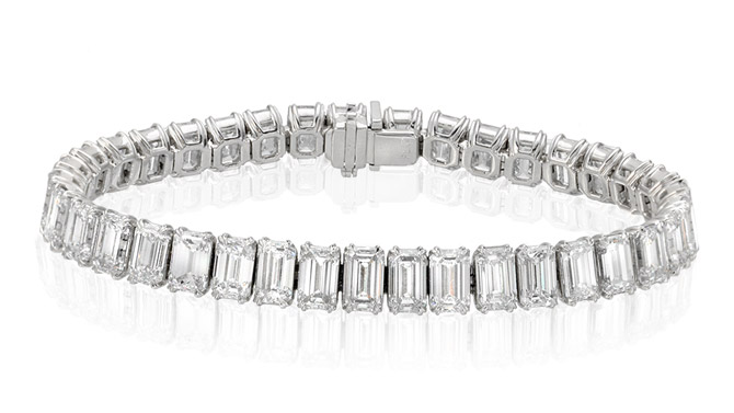 Ounce Collection platinum diamond bracelet