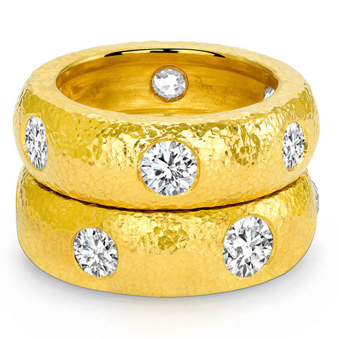 Dorian & Rose 24k gold bands
