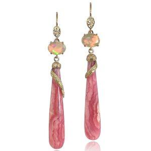 K. Mita rhodochrosite earrings