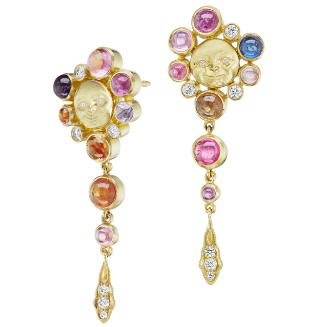 Anthony Lent Umba sapphire Lunar Galaxy earrings