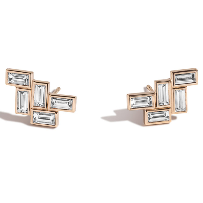 Shahla Karimi Fallingwater stud earrings