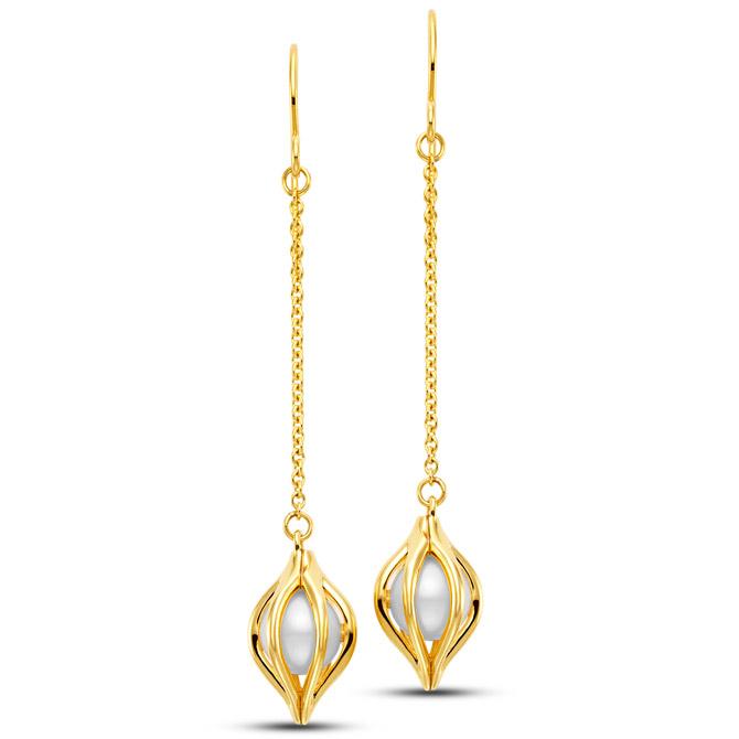 Mastoloni Tulip pearl drop earrings