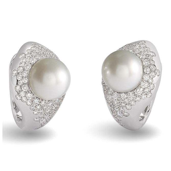 Giorgio Visconti Cignus pearl earrings