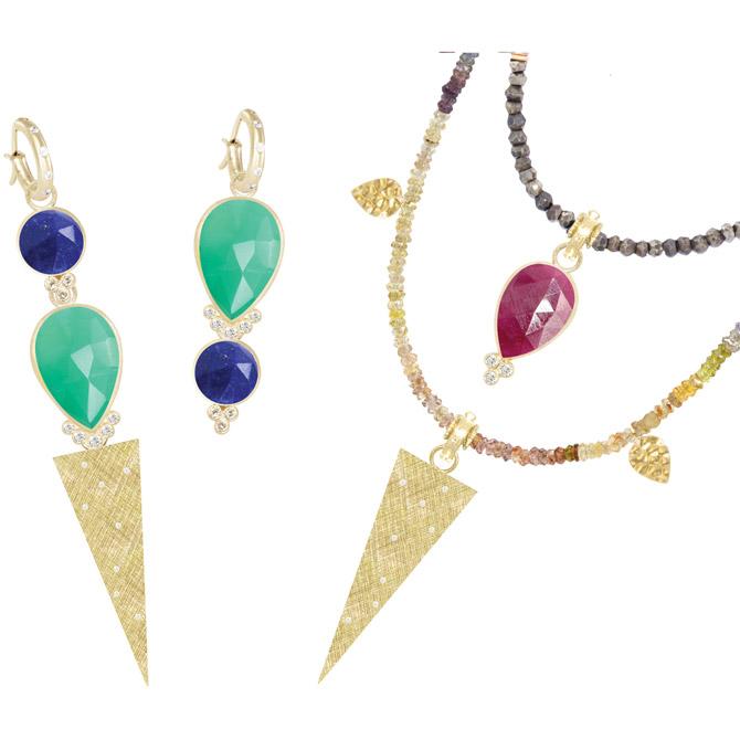 Nina Nguyen interchangeable pendants and earrings