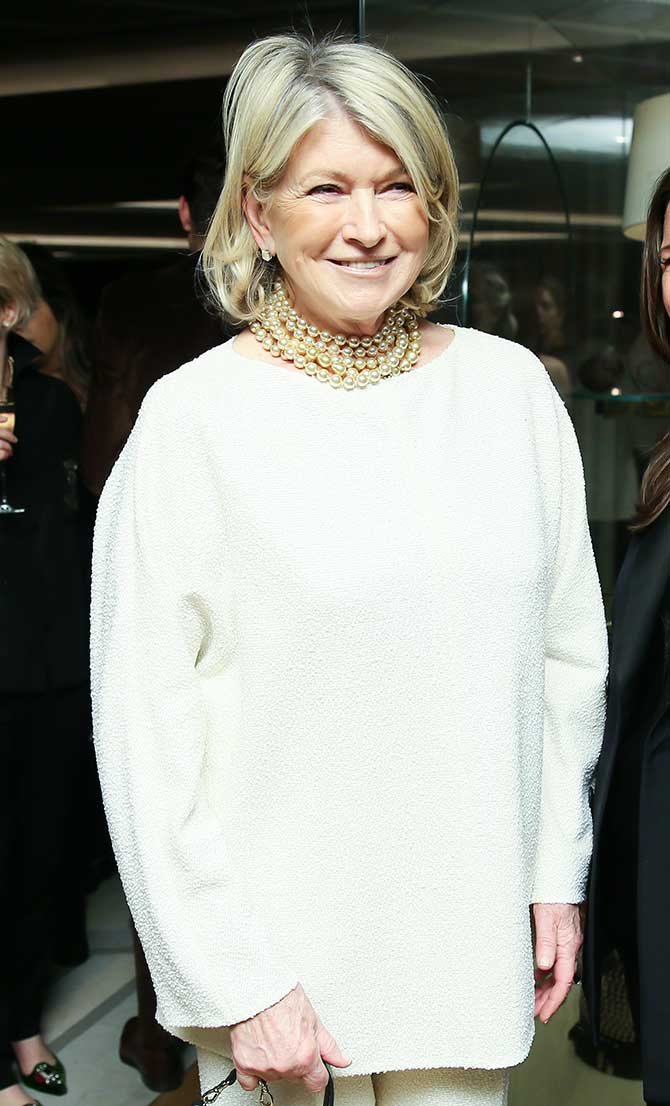 Martha Stewart at Town Country jewelry awards