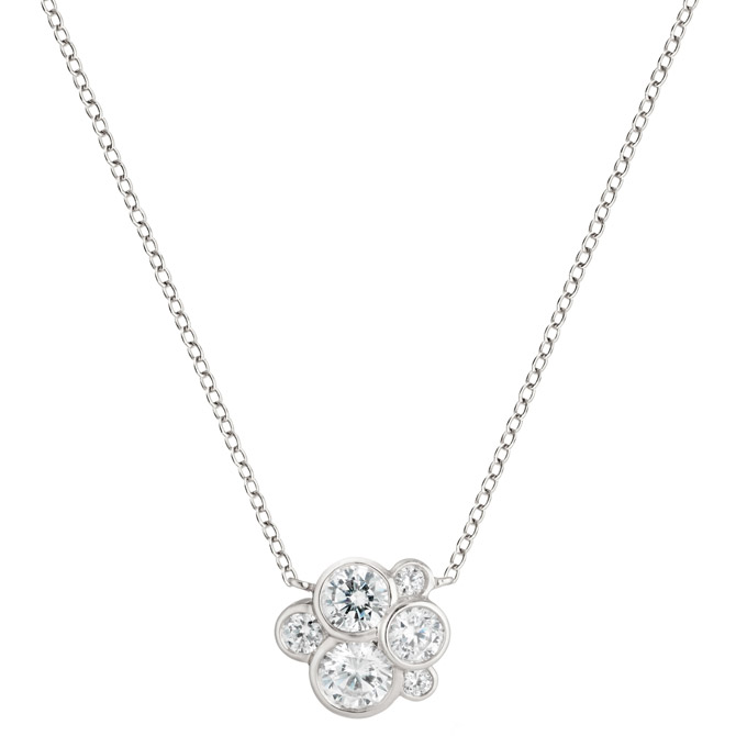 Annie James diamond cluster necklace