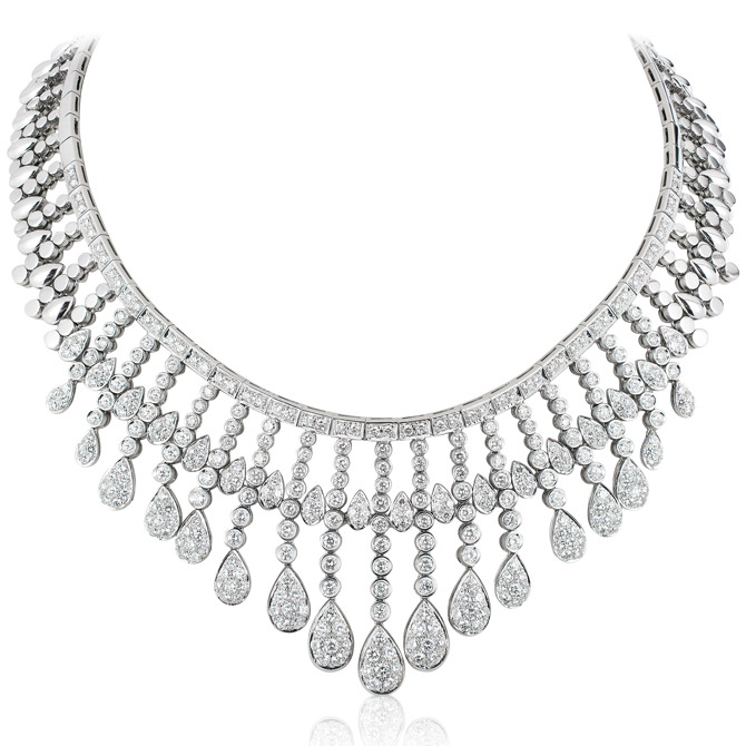 Andreoli diamond bib necklace