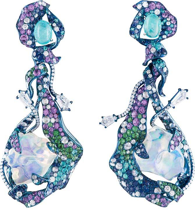 Neha Dani Universe water opal earrings