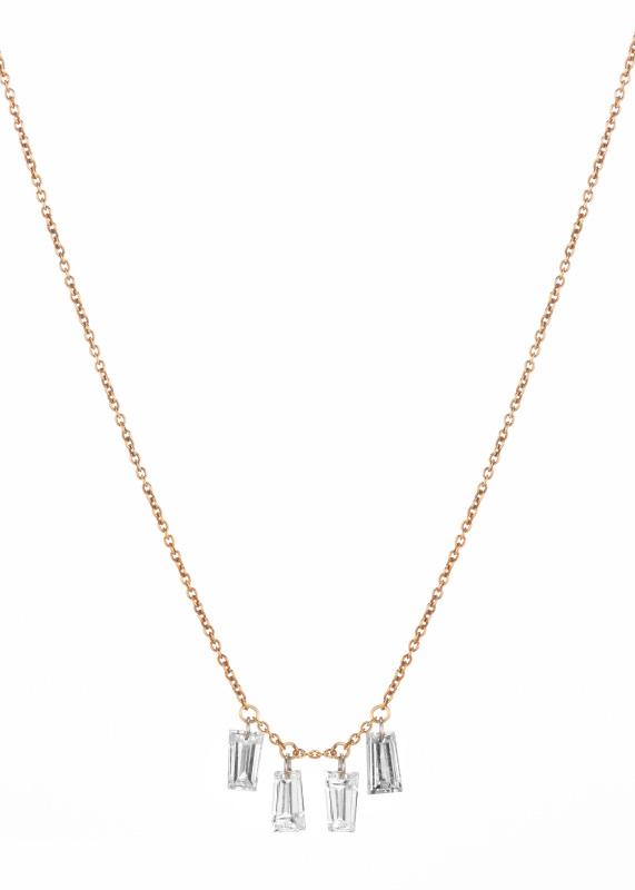 Rebecca Romijn baguette necklace