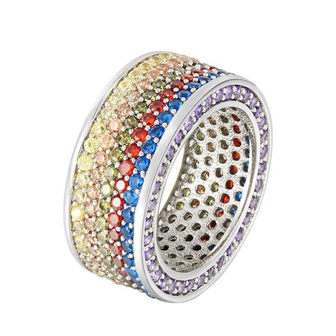 Miss Jewelry rainbow CZ ring