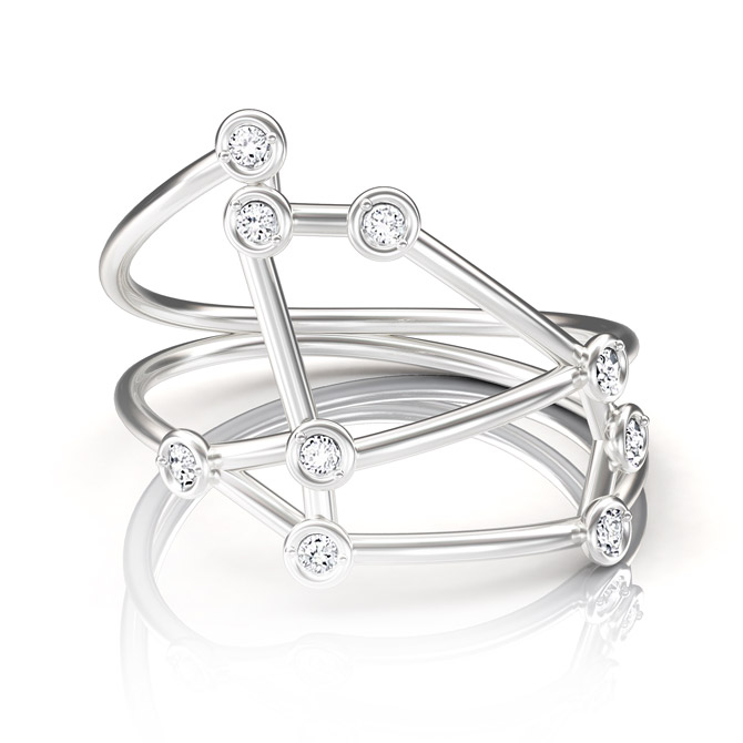 Jessie V E Constellation Aries ring